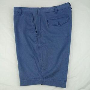 Cremieux Cassis Flat Front Blue Khaki Shorts